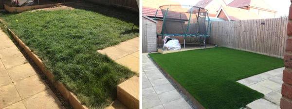 Artificial Grass installation with Supreme Lawns