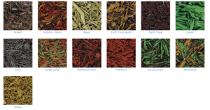 20kg Rubber Mulch from £30.00 - Variety of colours available.