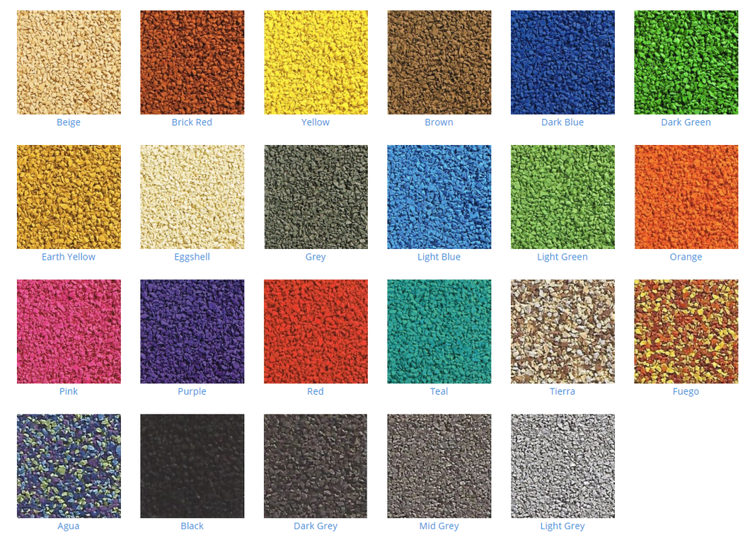 25kg - Wet Pour Rubber - Variety of colours available