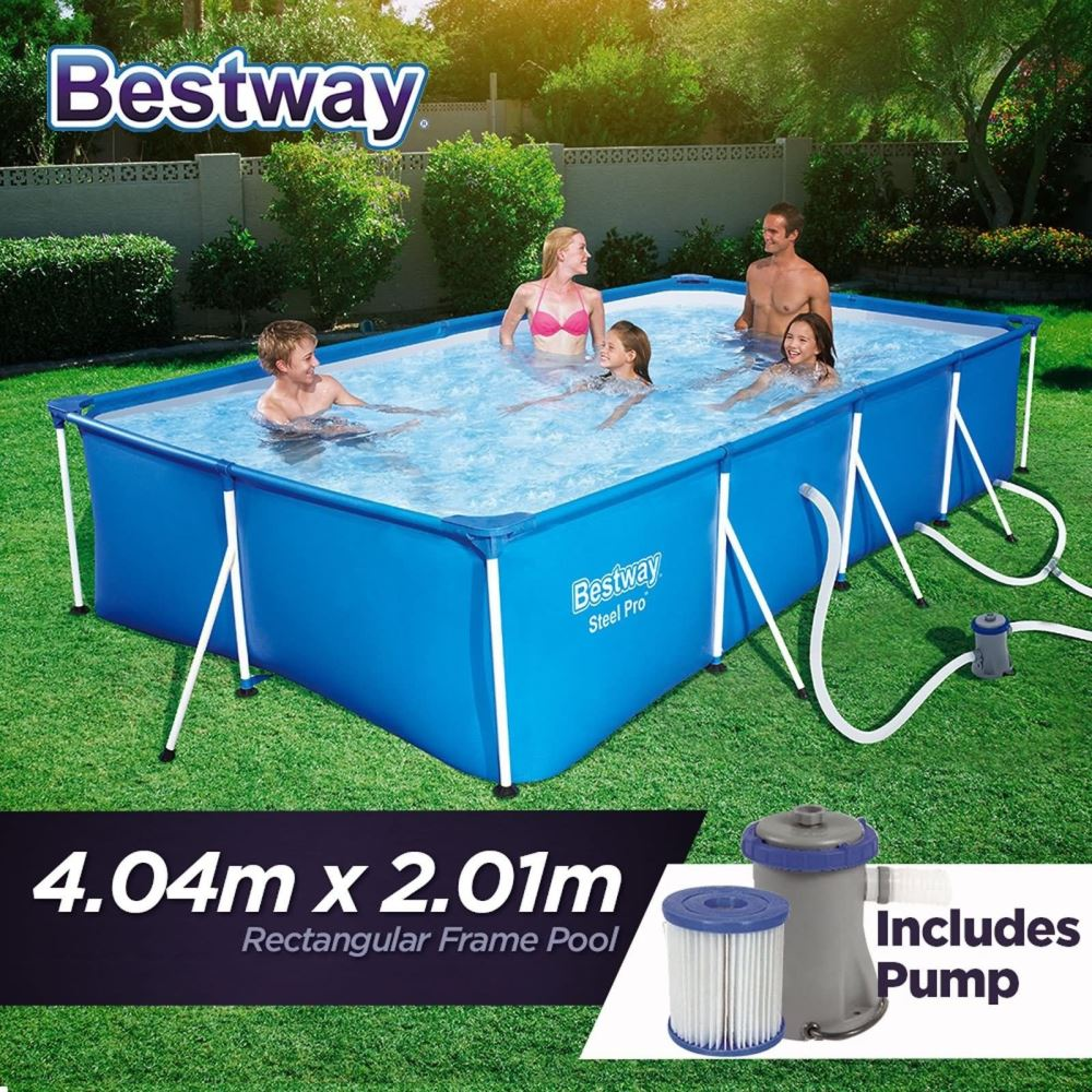 bestway steel pro frame pool 56425 tsb living. Black Bedroom Furniture Sets. Home Design Ideas