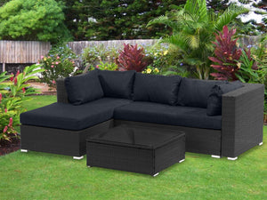 TSB Living Outdoor Default Outdoor Corner Chaise Alu Black