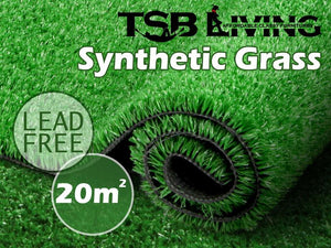 TSB Living Artificial grass Default ARTIFICIAL GRASS SYNTHETIC TURF LAWN 20SQM OLIVE 2M X 10M
