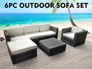 TSB Living Outdoor Default 6 PC Outdoor Sofa Set