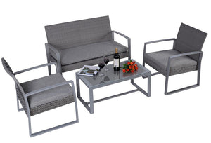 TSB Living Outdoor OUTDOOR FURNITURE STEEL LUGANO OUTDOOR LOUNGE FF-ML-L-LUG