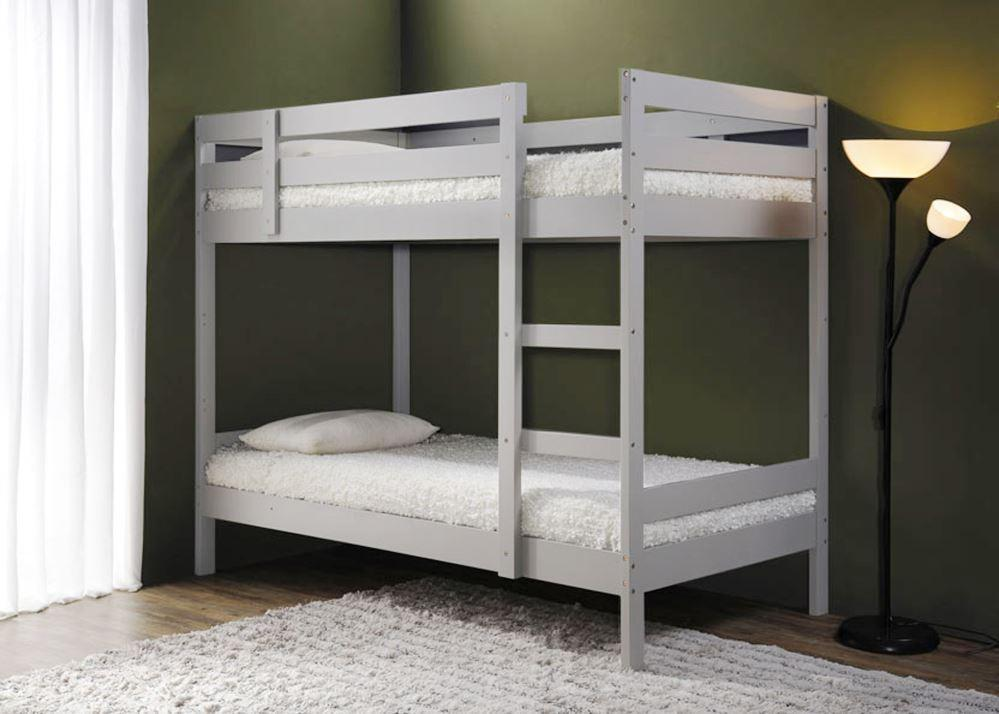 Bunk Bed Solid Wood Single Size Louis Iv White Tsb Living