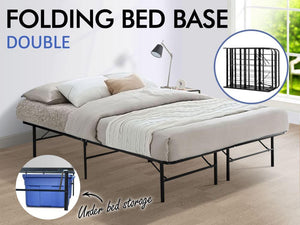 TSB Living TSB Living double Folding Bed Base DOUBLE BLACK