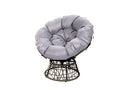 Rattan Swivel chair Grey