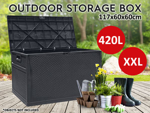 TSB Living TSB Living Default OUTDOOR STORAGE BOX XXL Black