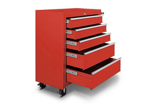 TSB Living TSB Living Default TOOL CABINET WITH WHEELS 5 DRAWER IN RED