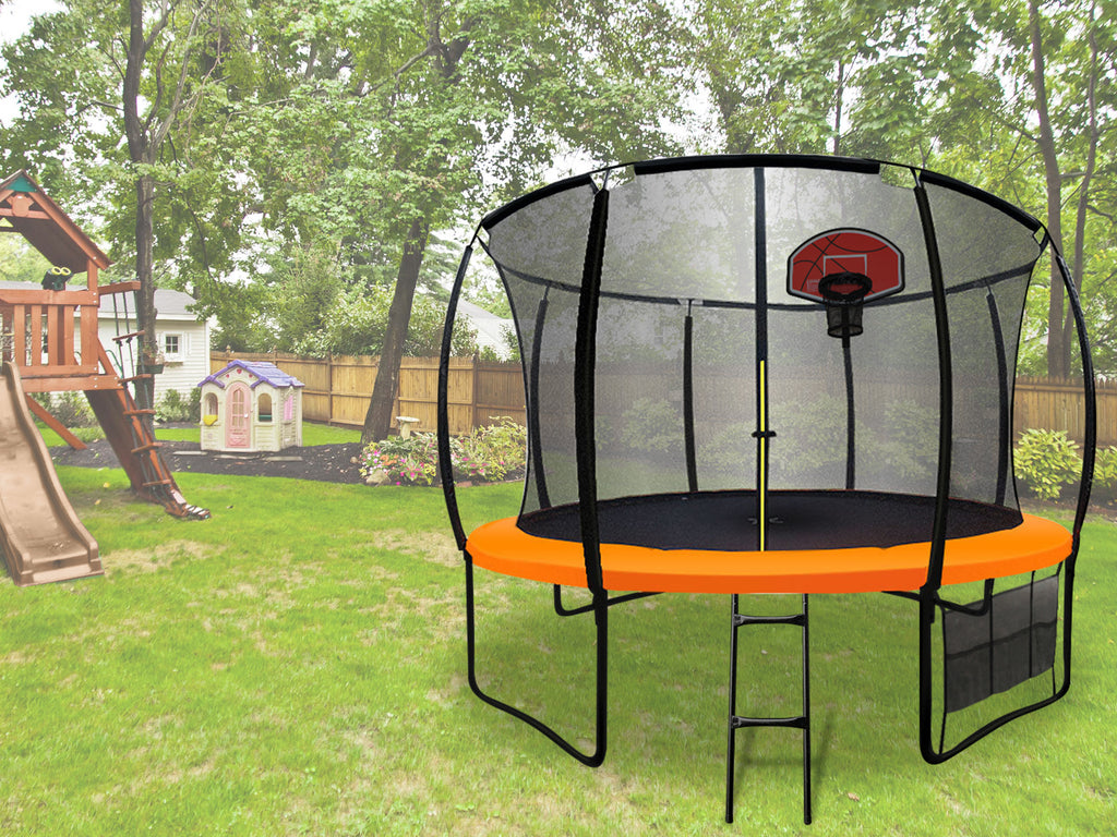 Arc Trampoline 14ft With Basketball Hoop