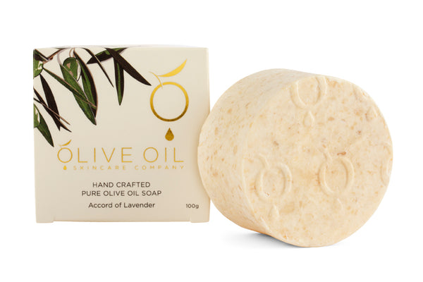 Olive Oil Soap, All-Natural , Lavender, 100g