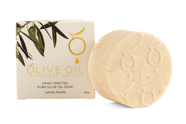 Extra Virgin Olive Oil Soap Lemon Myrtle 100g
