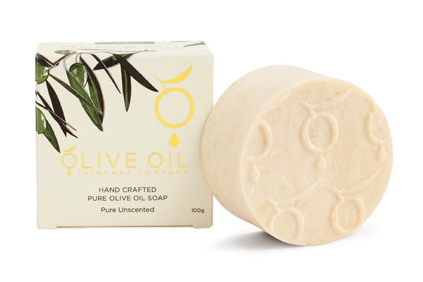 Olive Oil Soap, All-Natural, Unscented, 100g