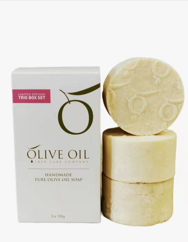 Olive Oil Soap, All -Natural ,Mixed Trio Pack