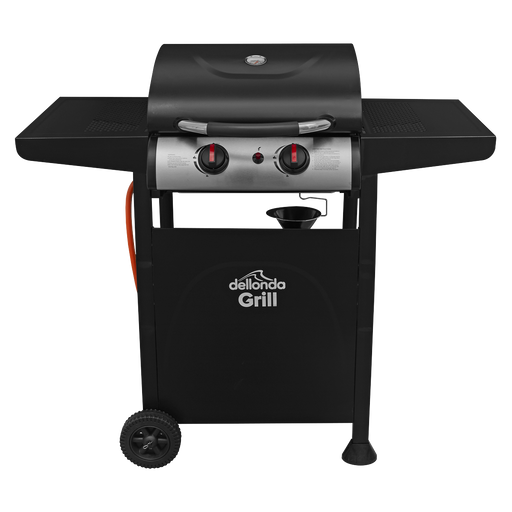 DG13.BR - 2 Burner Gas BBQ Barbecue with Piezo Ignition | Refurbished Grade B |