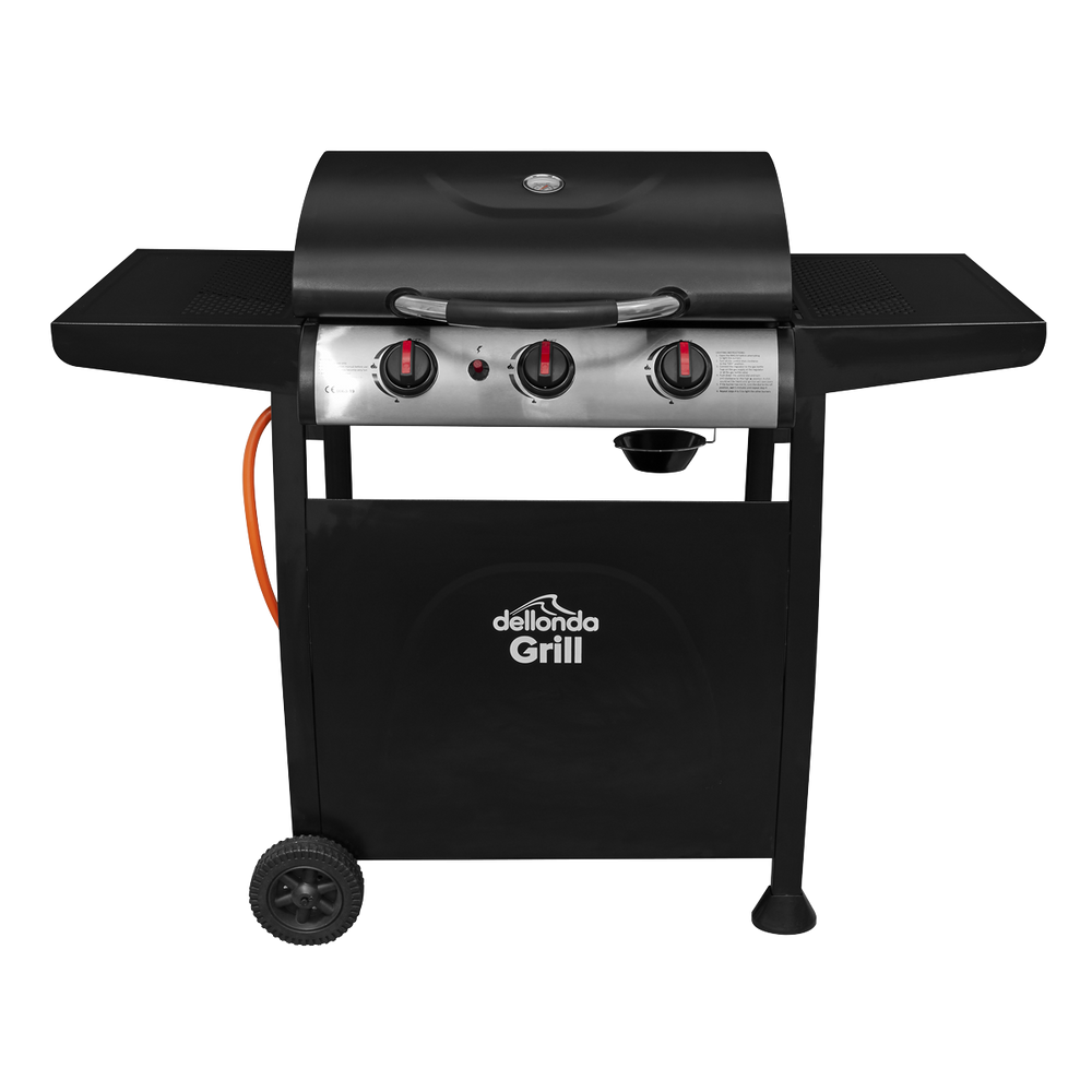 DG14.BR - 3 Burner Gas BBQ Barbecue with Piezo Ignition | Refurbished Grade B |