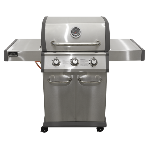 DG16.BR - Deluxe 3 Burner Gas Barbecue, Piezo Ignition | Refurbished Grade B |