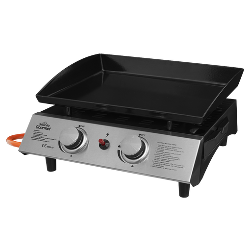 DG21 - 2 Burner Portable Gas Plancha Grill BBQ | Refurbishment Grade B | 5kW