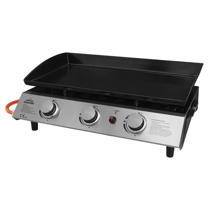 DG22.AR - 3 Burner Portable Gas Plancha Grill Griddle | Refurbished Grade A |