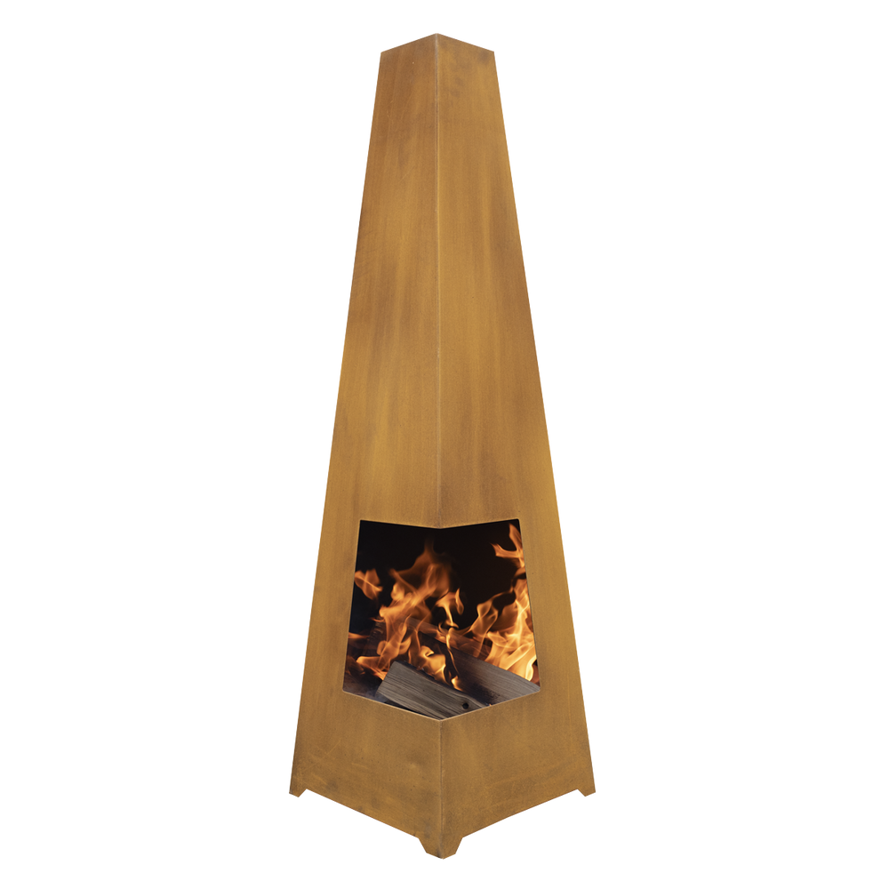 DG27 - Lavenham Outdoor Chiminea, Fireplace, Fire Pit, Heater - Corten Steel