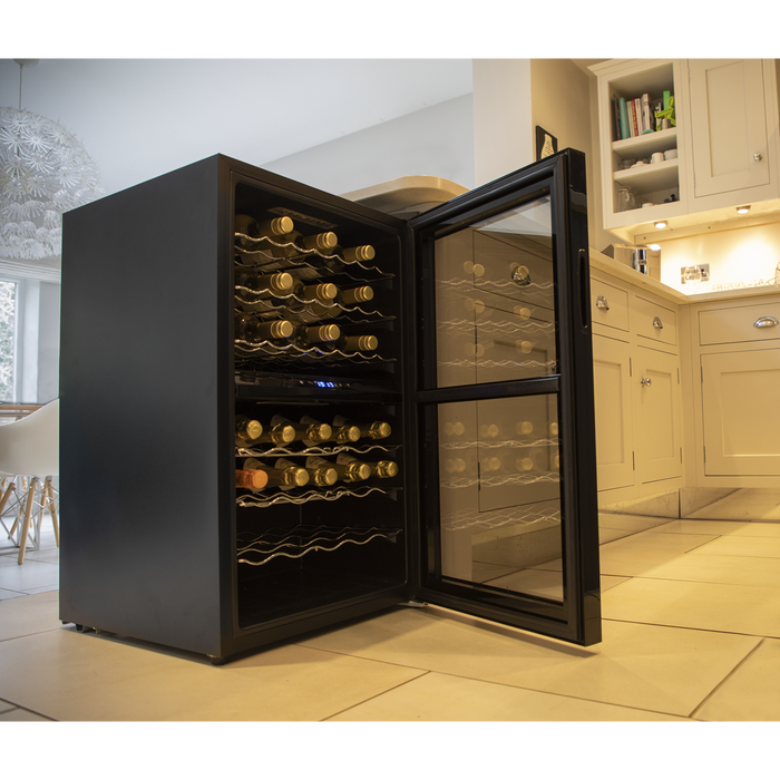 DH11.AR - Baridi 43 Bottle Dual Zone Wine Cooler | Refurbished Grade A | Black