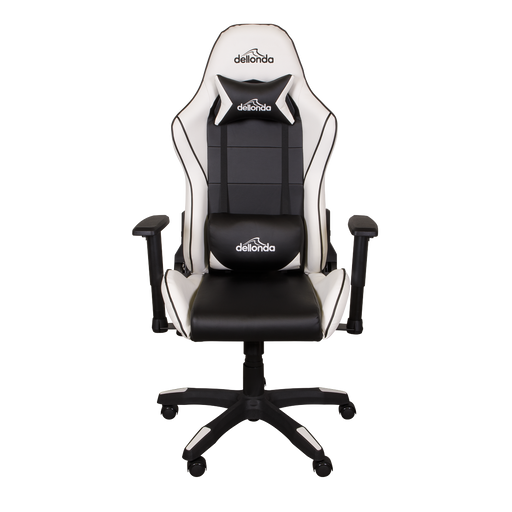DH47 - Dellonda Gaming/Office Chair Adjustable, Headrest & Lumbar Support - Black/White