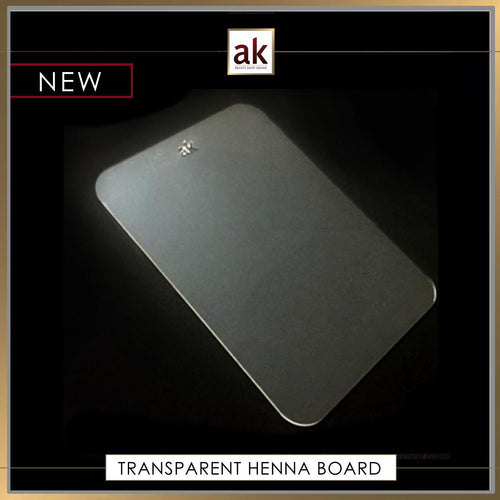 ACRYLIC TRANSPARENT HENNA BOARD