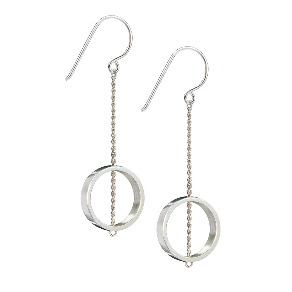 Ebb & Flow Silver Chain Earrings