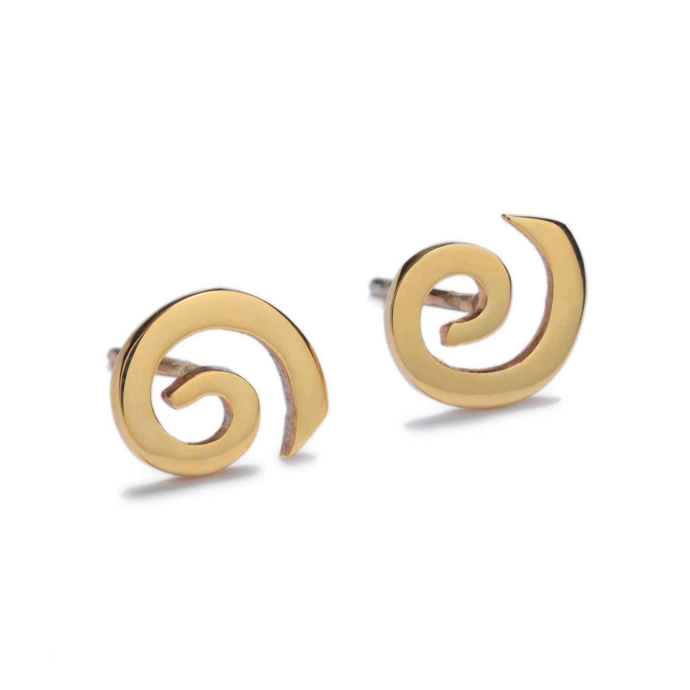 Solstice Gold Stud Earrings