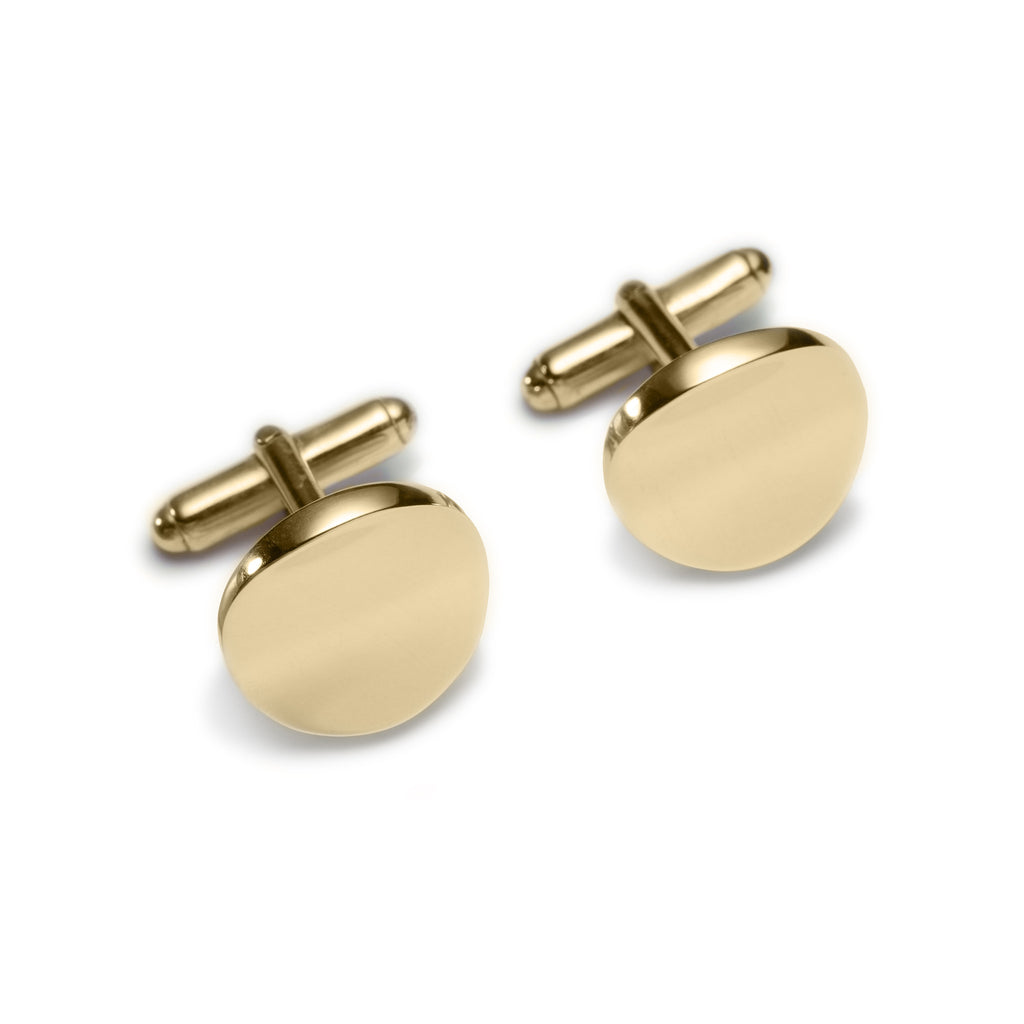 Full Moon Gold Cuff-links