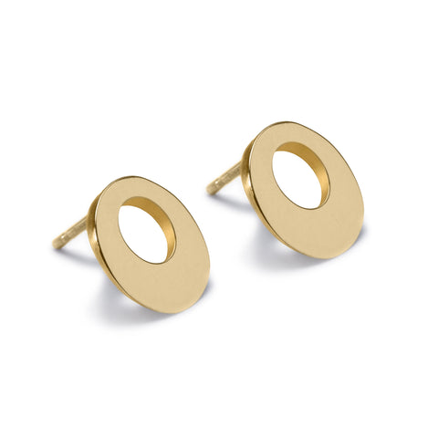 Circle of Dreams Gold Stud Earrings