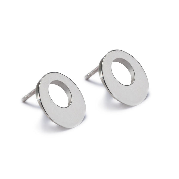 Circle of Dreams Stud Earrings. Unique designer jewellery handcrafted in Ireland.