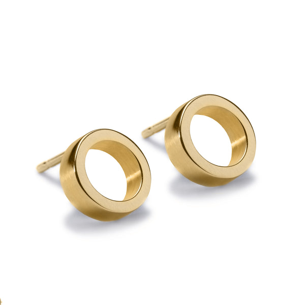 Circles Gold Stud Earrings