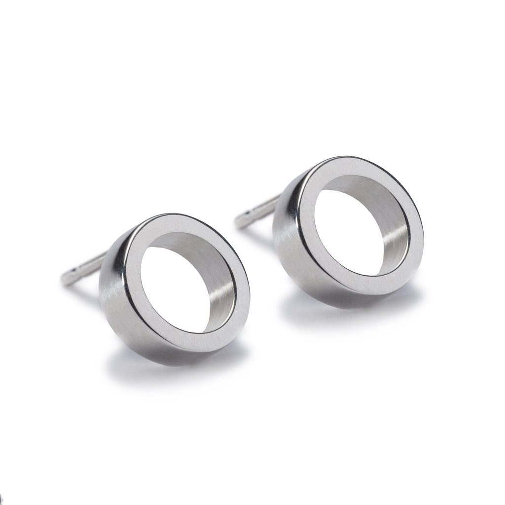 Circles Silver Stud Earrings