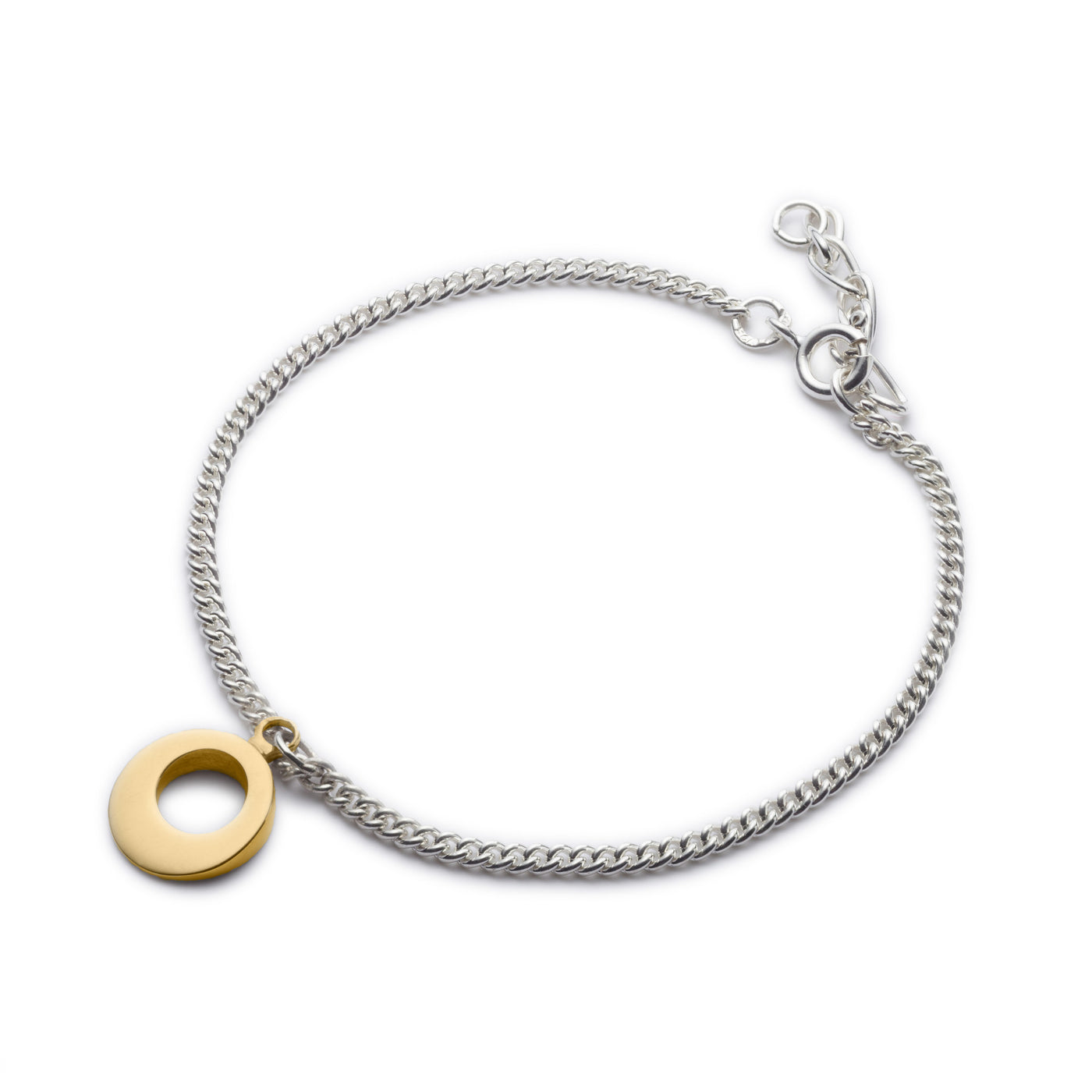 Circle of Dreams Silver & Gold Charm Like Bracelet