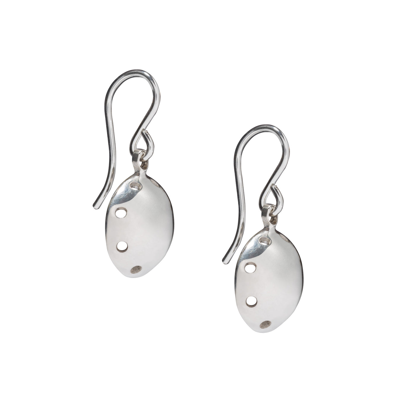 Circular Silver Swing Earrings. Unique designer jewellery handcrafted in Ireland.