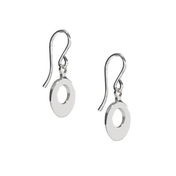 Silver Swing Earrings. €75 Materials:Silver Measurements:Total length 24mm Design Year:2015. Unique designer jewellery handcrafted in Ireland.