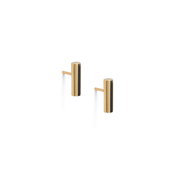 Atlantic Gold Bar Earrings.  Unique designer jewellery handcrafted in Ireland.