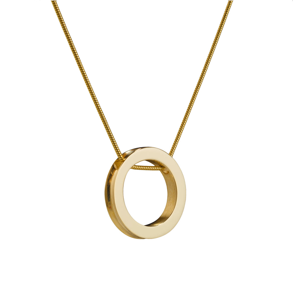 Atlantic Small Round Gold Pendant. Unique designer jewellery ...