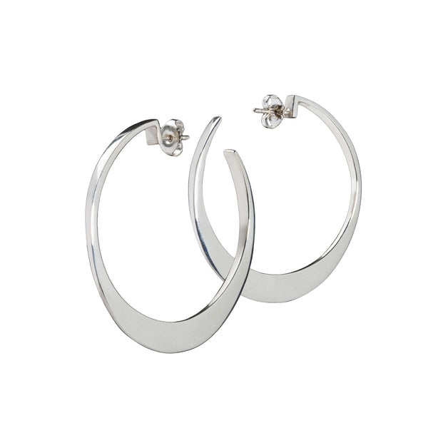 Circle of Dreams Large Silver Hoop Earrings