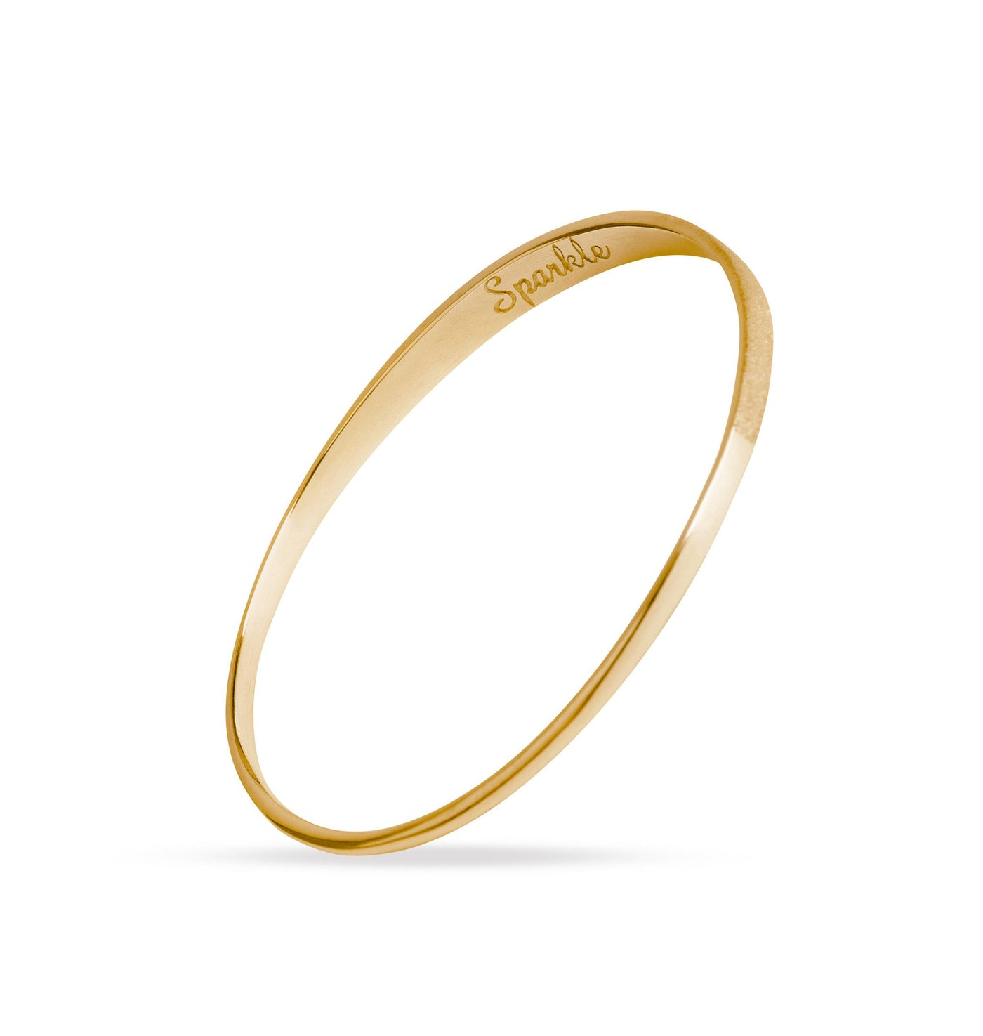 Dream Gold Bangle. Unique designer jewellery handcrafted in Ireland.