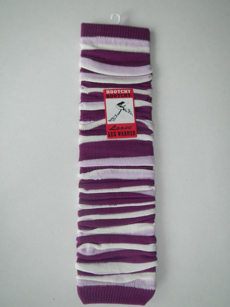 Leg Warmers, Stripey in Pink and Purple