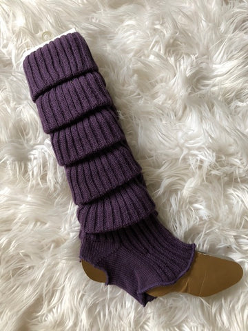 Leg Warmers, Purple with heel cut out