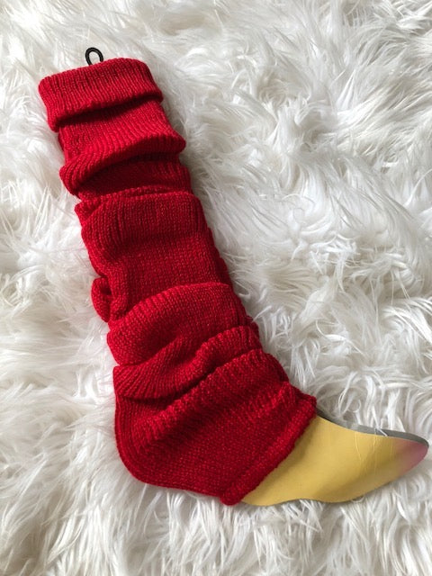 Leg Warmers, Red