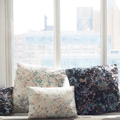 / / wayward - printed suede throw pillows