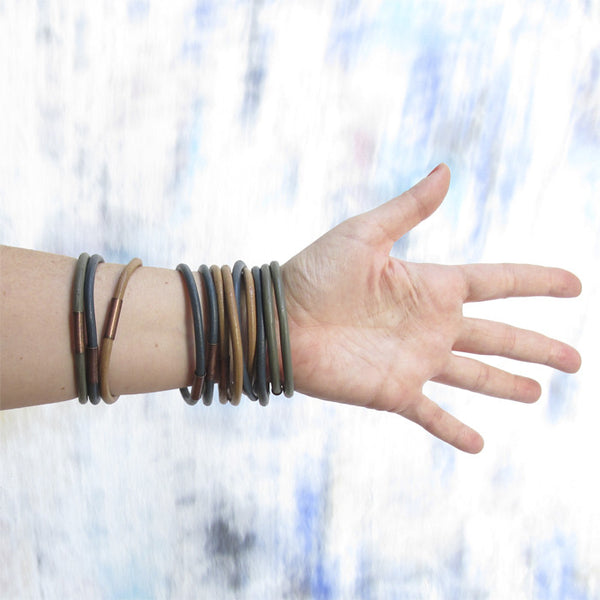 WAYWARD: LEATHER BANGLE - GREYHOUND