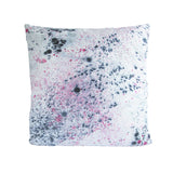 26x26 PRINTED LINEN PILLOW: DYE DOTS PRINT