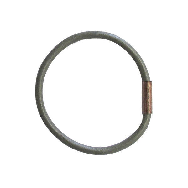 WAYWARD: LEATHER BANGLE - GREYHOUND / grey