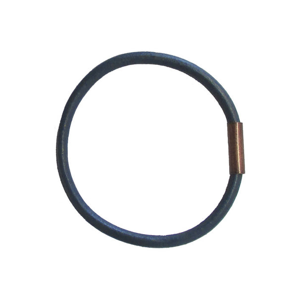 WAYWARD: LEATHER BANGLE - NAVY