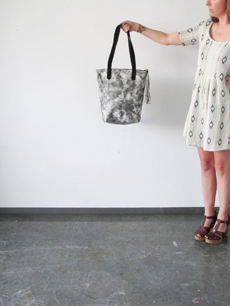 Leather Tote - SHIBORI